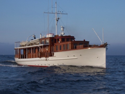 classic yacht PORTOLA, cruising in California